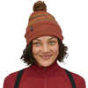 Tuque Powder Town Park Stripe Knit: Spanish Red