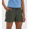 Wanderwall Shorts Green Olive Quartz Print