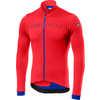 Fondo Long Sleve Full-Zip Jersey Fiery Red/Rescue Blue