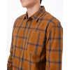 Benson Flannel Shirt Rubber Brown Tree Plaid