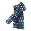 Koski Fleece Lined Raincoat Navy Drops