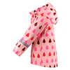 Koski Fleece Lined Raincoat Powder Pink Drops