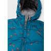 Bundle Up Reversible Jacket Neutral Grey/Aquatic Blue Peak Print