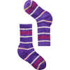 Merino Hike Stripe Light Crew Socks Desert Orchid