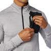 Heat Grid Half Zip Top Athletic Grey