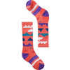 Wintersport Mountain Socks Bright Coral