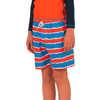 Snicker Stretch Swim Shorts Tie Dye Stripes