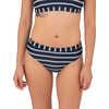 Culotte de bikini Sunflare Rayures larges/marine
