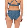 Culotte de bikini Sunflare Floral pleine fleur/Bleu sarcelle foncé