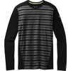 Merino 150 Baselayer Long Sleeve Crew Black Stripe