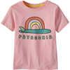 T-shirt en coton biologique Baby Graphic Aileron lever de soleil: rose bouton de rose