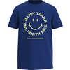 T-shirt Graphic Bleu éclair
