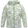 Glacier Full Zip Hoodie Misty Jade Flower Garden Print