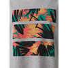Organic Graphic T-Shirt Heather Grey Jungle