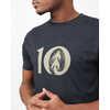 T-shirt Woodgrain Ten Noir météorite chiné