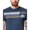 T-shirt rayé Spruce Bleu robe chiné