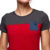 Campus Short Sleeve T-Shirt Vermilion/Carbon/Ink Blue