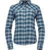 Chemise en flanelle à manches longues Spotter Bleu arctique/Carreaux cendre