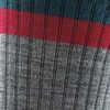 Heady Stripe Lightweight Cushion Micro Crew S Gray