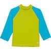 Shadow Long Sleeve Sun Shirt Lima/Optic Blue