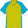 Shadow Short Sleeve Sun Shirt Lima/Optic Blue