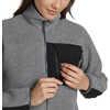 Manteau en laine polaire Fireside Bruyère gris foncé/Noir