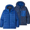 Reversible Down Sweater Hoody Superior Blue