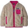 Retro-X Fleece Jacket Natural/Mythic Pink