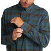 Overland Stretch Shirt Norse Blue Grove Plaid