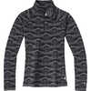 Chandail en laine mérinos 250 Fairisle de montagne noire