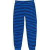Cozy Sweatpants Moonlight Blue Wide Stripe Print