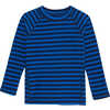 Cozy Crew Moonlight Blue Wide Stripe Print